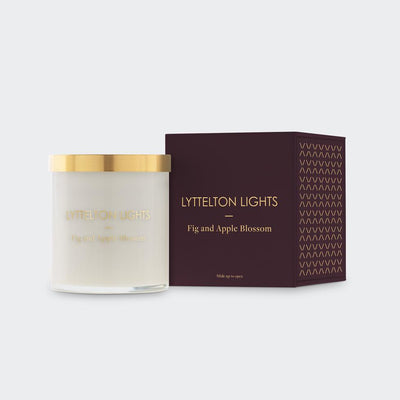 Fig & Apple Blossom Medium Candle | Lyttelton Lights | Te Huia New Zealand