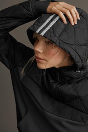 Womens HyBridge Knit Anorak Black Label