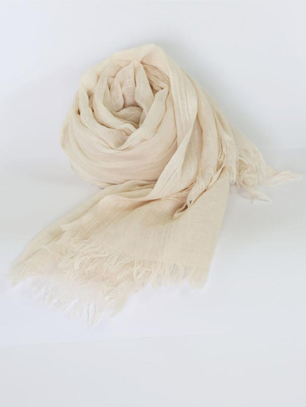 Womens Bamboo Scarf - Cream