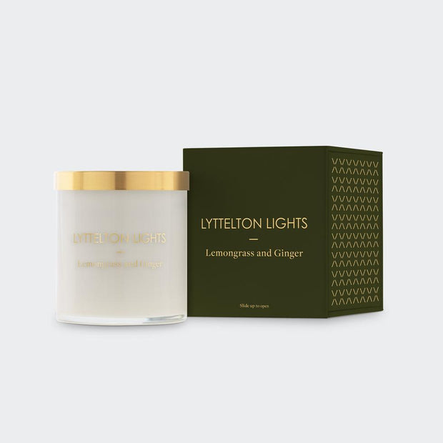 Lemongrass & Ginger Medium Candle | Lyttelton Lights | Te Huia New Zealand