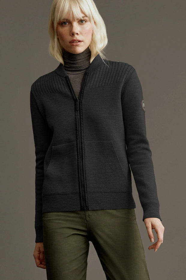 Womens Lennox Knit Bomber Black Label