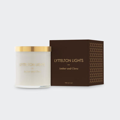 Amber & Clove Medium Candle | Lyttelton Lights | Te Huia New Zealand