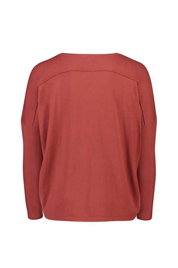 Womens Must Have Sweater - Red Brick