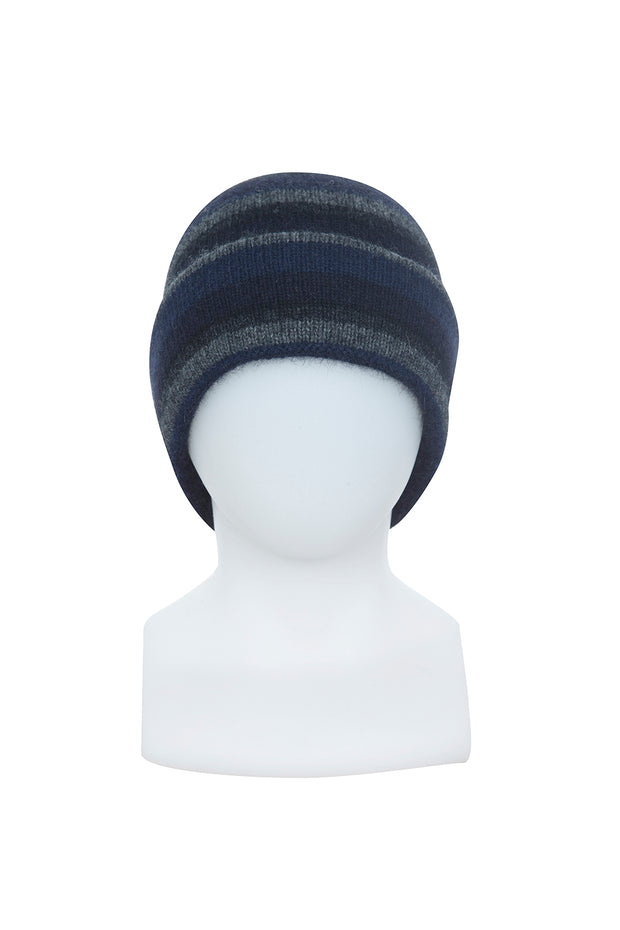 Stripe Beanie-Native World-Te Huia New Zealand