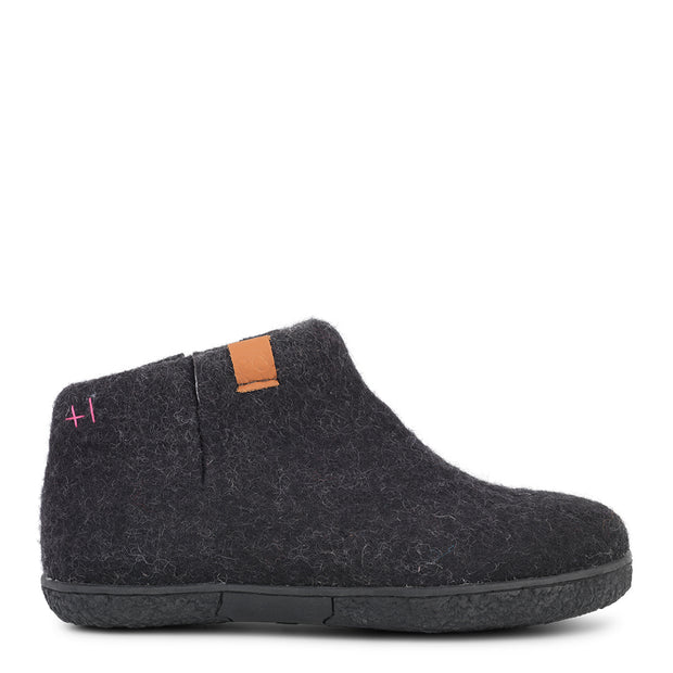 Womens Nepal Wool Felt Boot - Black