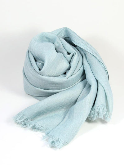 Womens Bamboo Scarf - Pastel Blue
