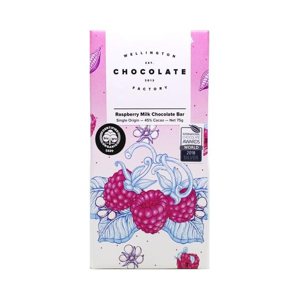 Raspberry Milk Chocolate Bar 75g