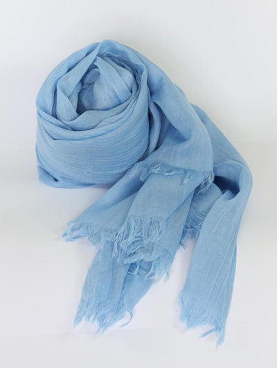 Womens Bamboo Scarf - Light Blue