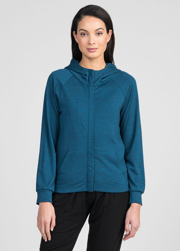 Womens Zeal Zip Hoodie - Untouched World | Te Huia New Zealand