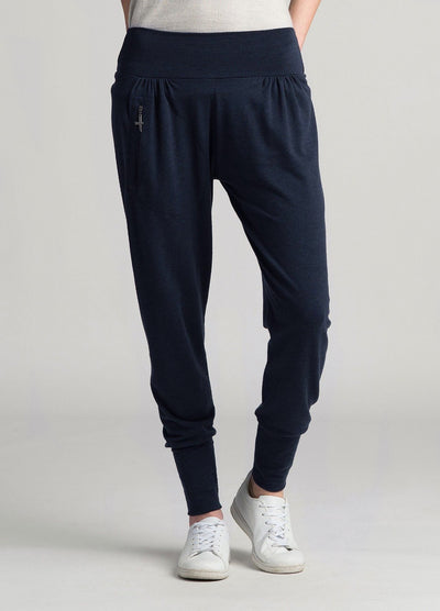Womens Slouchy Zip Pants - Dark Navy