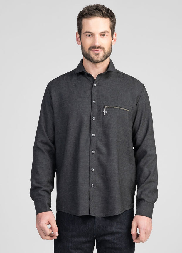 Mens Zip Pocket Shirt - Untouched World | Te Huia New Zealand