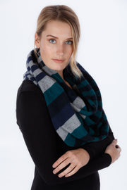 Unisex 4-Tone Block Colour Loop Scarf - Native World | Te Huia