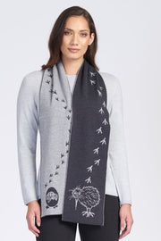 Kiwi Footprint Scarf - Royal Merino Optiumum Knitwear | Te Huia NZ