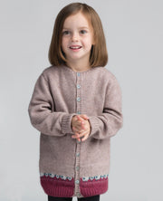 Kids Sheep Cardi-Merinomink-Te Huia New Zealand