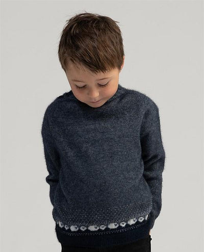 Kids Sheep Sweater-Merinomink-Te Huia New Zealand