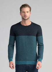 Mens Block Stripe Crew-Untouched World-Te Huia New Zealand