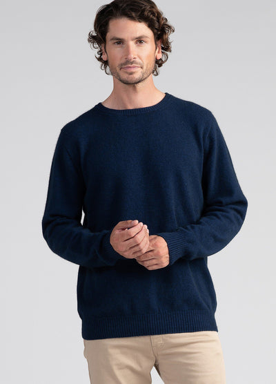 Mens Cassum Crew Sweater-Untouched World-Te Huia New Zealand