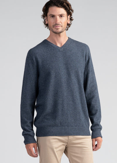 Mens Cassum V Neck Sweater-Untouched World-Te Huia New Zealand