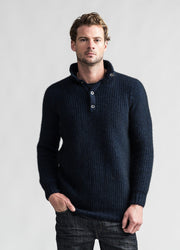 Mens Ecopossum Orbit Sweater-Untouched World-Te Huia New Zealand
