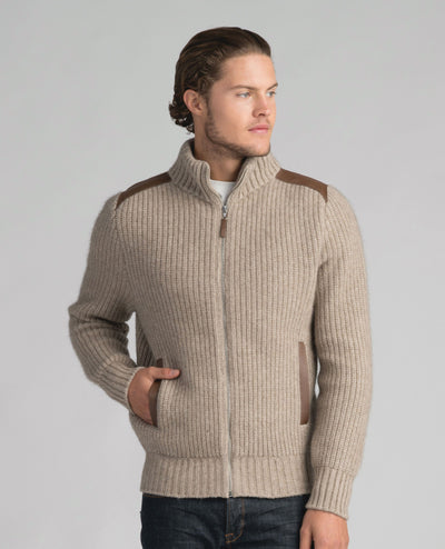 Mens Forrester Jacket - Natural-Merinomink-Te Huia New Zealand