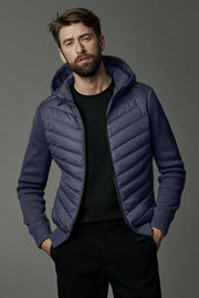 Mens HyBridge Quilted Knit Hoody Black Label-Canada Goose-Te Huia New Zealand