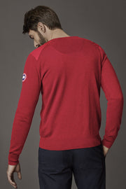Mens McLeod V Neck Sweater Classic Disc-Canada Goose-Te Huia New Zealand