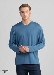 Mens Mountainsilk Long Sleeve Crew-Untouched World-Te Huia New Zealand