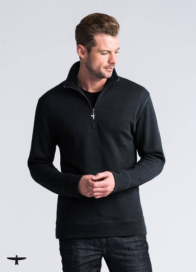 Mens Mountainsilk Sport Half Zip-Untouched World-Te Huia New Zealand