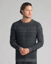 Mens Peak Crew Sweater-Merinomink-Te Huia New Zealand
