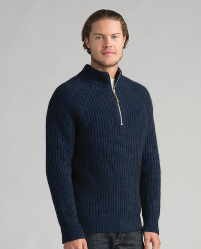 Mens Tekapo Half Zip-Merinomink-Te Huia New Zealand