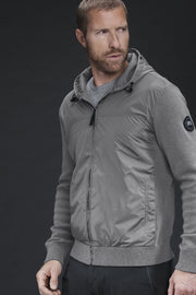 Mens WindBridge Hoody Black Label-Canada Goose-Te Huia New Zealand