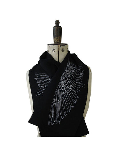 Merino Scarf - Wing Print-Kate Watts-Te Huia New Zealand