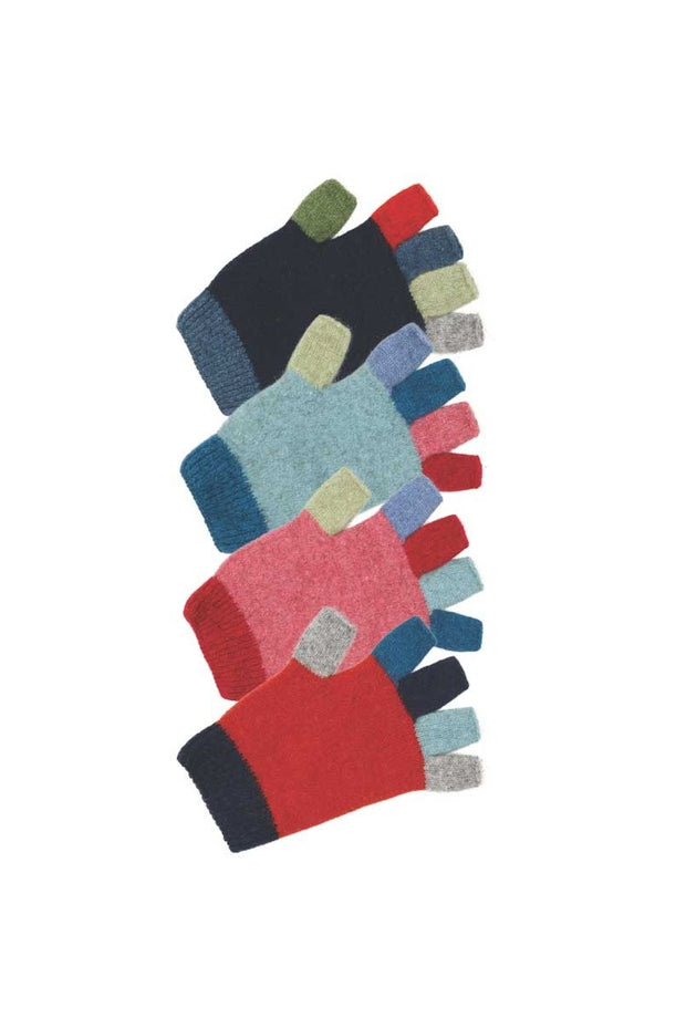 Kids Multicolour Fingerless Gloves-Native World-Te Huia New Zealand