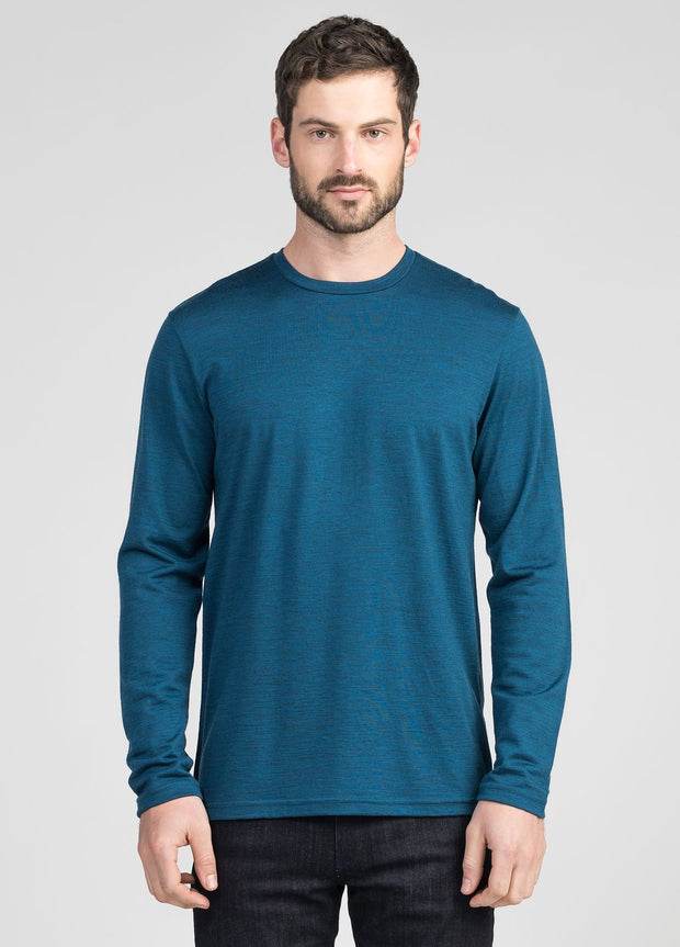 Mens Mountainsilk Slim Fit Crew - Untouched World | Te Huia