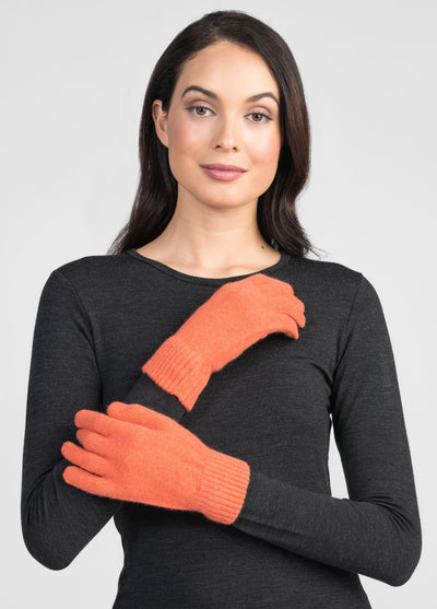 Unisex Cosy Gloves - Coral
