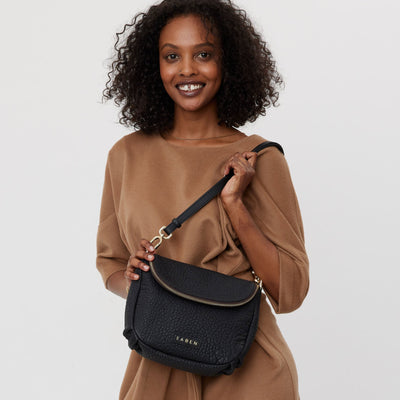 Fifi Crossbody Bag - Black Bubble