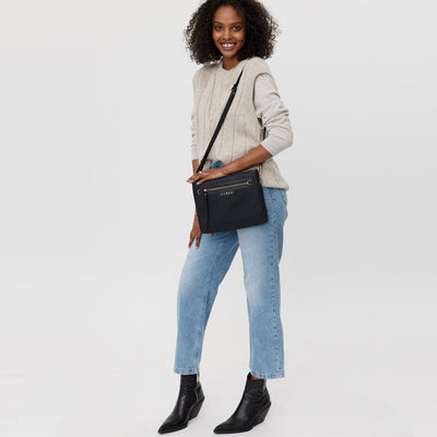 Matilda Crossbody Bag - Black Bubble