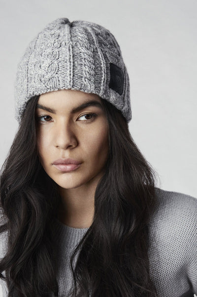Womens Chunky Wool Beanie-Canada Goose-Te Huia New Zealand