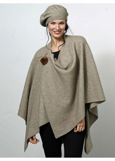 Womens Cocoon Wrap-Possumdown-Te Huia New Zealand