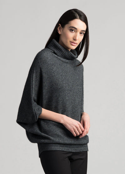 Womens Air Cape Sweater - Slate-Untouched World-Te Huia New Zealand