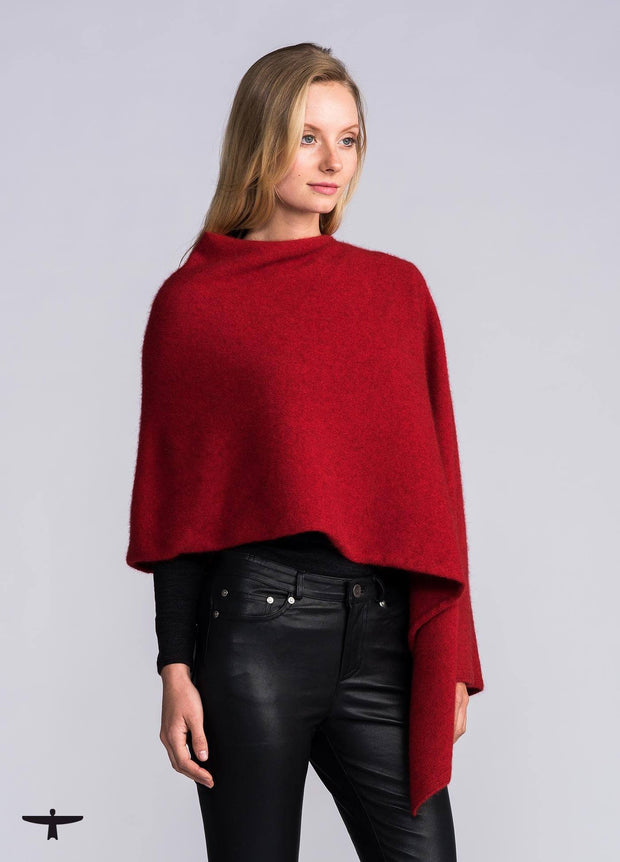 Womens Kahukura Wrap - Fiery Red-Untouched World-Te Huia New Zealand