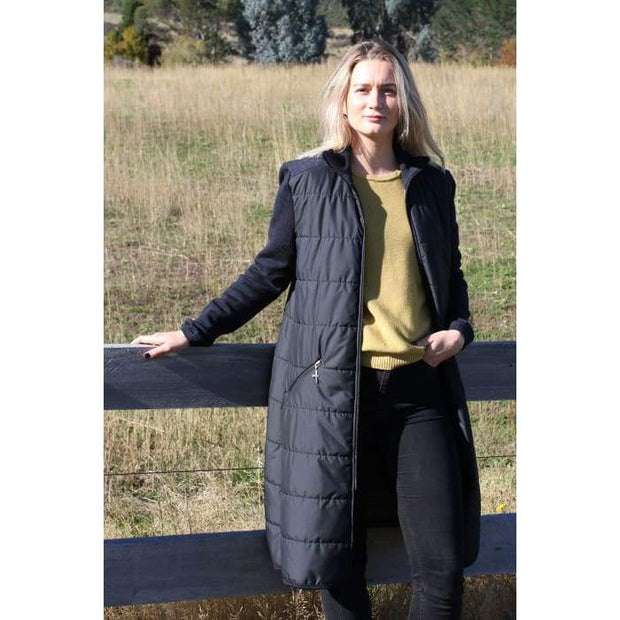 Untouched World-Womens Ecopuffer Coat - Black/Dark Navy - buy online with www.tehuianz.com