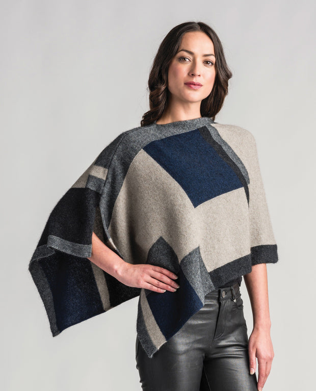 Womens Empress Poncho-Merinomink-Te Huia New Zealand