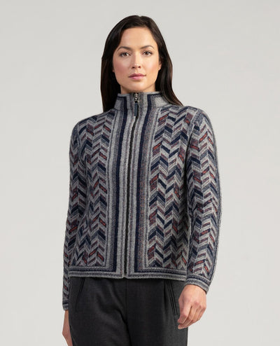 Womens Escher Jacket-Merinomink-Te Huia New Zealand