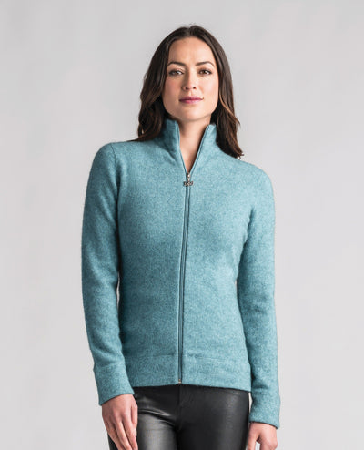 Womens Felted Jacket-Merinomink-Te Huia New Zealand