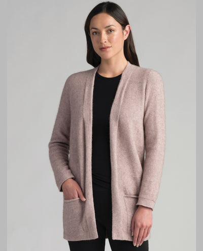 Womens Hokitika Cardigan-Merinomink-Te Huia New Zealand