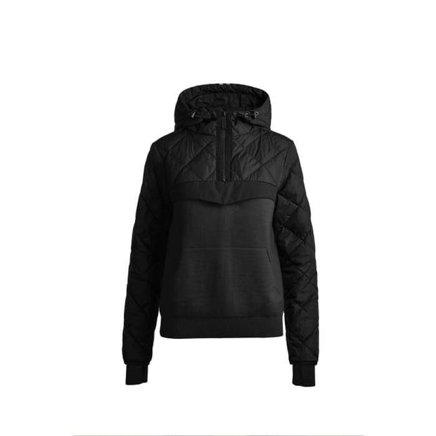 Canada Goose-Womens HyBridge Knit Anorak Black Label - buy online with www.tehuianz.com