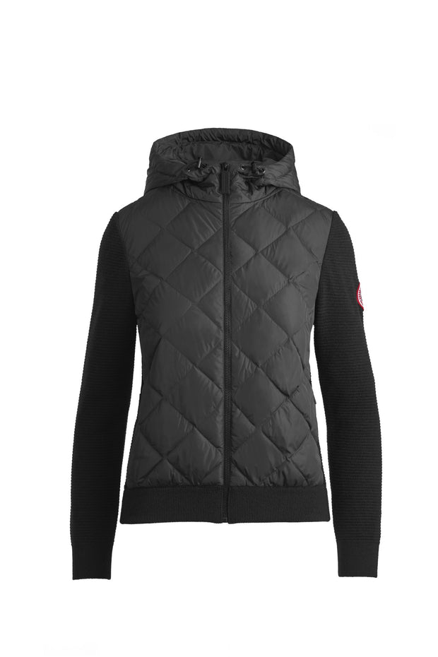 Womens HyBridge Quilted Knit Hoody Classic Disc-Canada Goose-Te Huia New Zealand