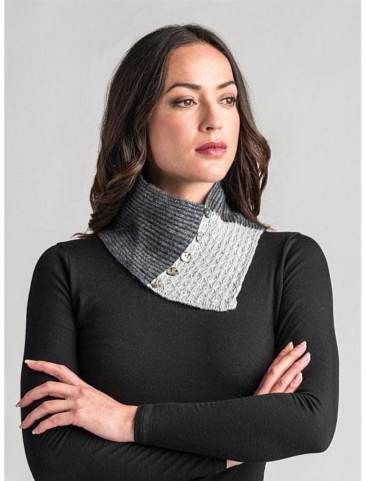 Womens Lace Neck Warmer-Merinomink-Te Huia New Zealand