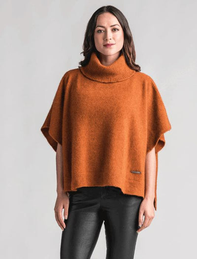 Womens Lanarch Cape - Paprika-Merinomink-Te Huia New Zealand